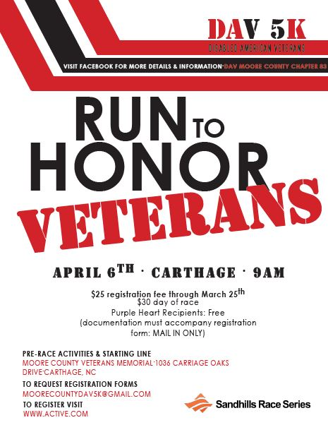Run to Honor Veterans | County of Moore NC